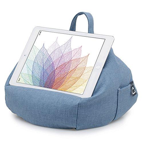 iBeani-Knautschkissen für iPads, Tablets & eReader / Halter für alle Geräte - Blau Denim