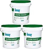 Knauf Super Finish 3x20kg Spachtelmasse für Trockenbau SHEETROCK Fugenspachtel