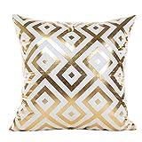 Manadlian Cushion Cover, 2017 New Gold Foil Printing Plush Sofa Home Decor Waist Square Throw Cushion Cover Pillow Case 45 * 45cm (45 * 45cm, Gold 4)