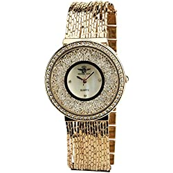 Women's Watch MICHAEL JOHN Silver Quartz Steel Case Analogue Display Strass Steel Band Rose