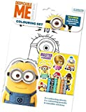 Despicable Me Minions Colouring Set, With Colouring Sheets, Stickers, Pencils, And a Colour In Door Plaque