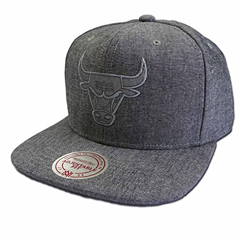 Mitchell & ness chicago bulls italian washed snapback cappello - taglia unica - grey