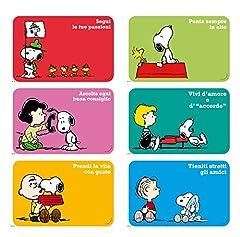 Idea Regalo - Excelsa Peanuts Set 6 Tovagliette, Polipropilene, Multicolore, 6 pezzi