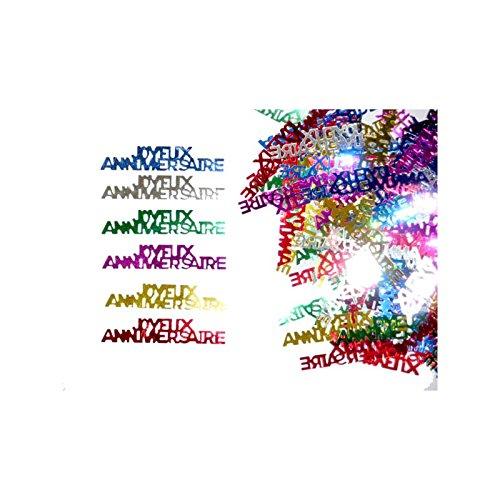 Aptafetes - Confettis de table joyeux anniversaire (14 gr) 3700638202216