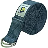 Marine Pearl Soft 8ft Organic Cotton Yoga Strap for Stretching, Holding Poses, Improving Flexibility and Physical Therapy