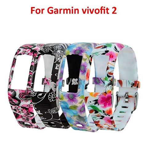 Fit-Power Ersatz-Armband mit Schnalle für Garmin Vivofit 2 (ohne Tracker), Pack of 4D 2g Sport Armband