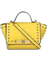 Don Cavalli Yellow PU Sling Bag For Women (ROSE-1007)