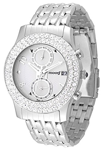 Moog Paris Heritage Women's Watch with Silver Dial, Silver Stainless Steel Strap & Swarovski Elements - M45554-001