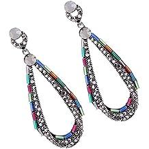 Retro pendientes de perlas de diamante personalizado estilo de moda pendientes