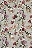 Provencestoffe.com Gobelin Tischdecke, Mitteldecke, ca. 100x100 cm Landhaus Tulpen, Frühlingsdecke