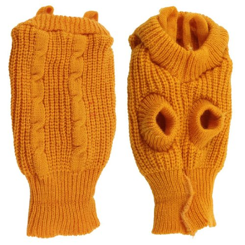 Kleider Pudel (SODIAL(R) Rollkragenpulli Teeschale Pudel Winter Pullover Bekleidung Kleider gelb)
