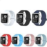 For Vanqiang Ersatzband für iWatch Armbanduhr 38mm weiches Silikon Armband für iiWatch–schwarz, Silikon, lavendel, iWatch 38mm