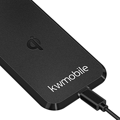 kwmobile kabelloses Ladegerät / Wireless Charger / drahtlose Aufladestation für alle Qi-fähigen Smartphones - 2