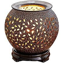 QL Quemador de Incienso de cerámica eléctrico, Tiempo Quemador Aceite Esencial aromaterapia, Control de