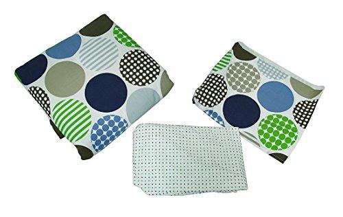 Polka Dots 3Stück Bettlaken für Babybett Rock Tröster Bettwäsche-Set (Kleinkind Bettwäsche Dots)