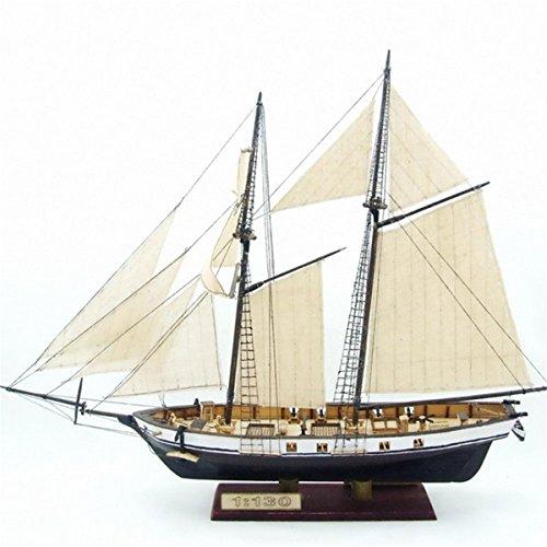 ChaRLes 380x130x270mm diy schiff montage modell kits klassische hölzerne segelboote skala modell dekoration (Hölzerne Schiffe-kits)
