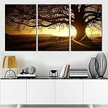 swmart panel moderno impreso rbol pintura cuadro cuadros puesta de sol lienzo pared arte decoracin