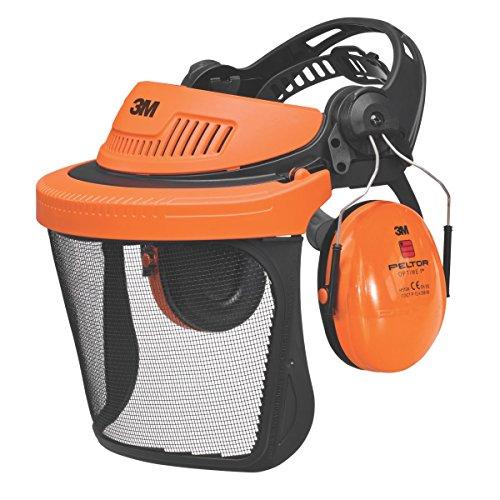3 M Peltor G500 Forstwirtschaft Kombination mit Kapselgehörschutz & Visier, schwarz/Orange