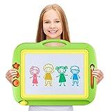 Hyden Große Magnetische Zaubertafeln Magnetic Drawing Board Pädagogische Magnettafel Löschbar Spielzeug mit 1 Stift und 3 Cartoon Magnetische Stamper für Kinder ab 3 Jahren, 435 x 358 x 35.5mm