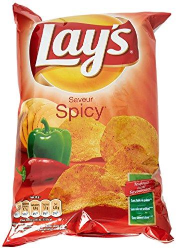 Lay's Chips Spicy 130 g - Lot de 5