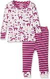 Hatley Baby-Mädchen Zweiteiliger Schlafanzug Mini Pyjama Sets, Weiß (Woodland Tea Party 100), 18-24 Monate