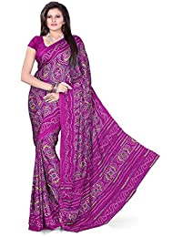 Aaradhya Fashion Women Crepe Saree with Blouse Piece (AFMOSS 0122 _Magenta)