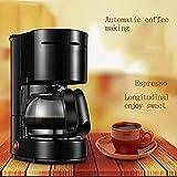 LXD Kaffeemaschine, vollautomatisch mit Filter, Isolierung bei konstanter Temperatur, hausgemachte Espressomaschine, Anti-Burning, leicht zu waschen und zu waschen Kaffeekanne (220 V schwarz)