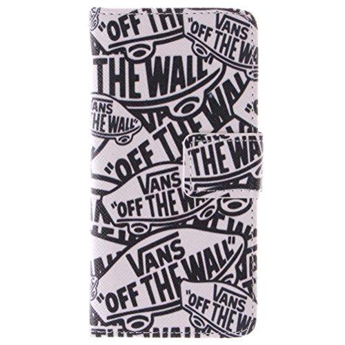 KATUMO® iPhone 5 Schutzhülle,PU Leder Flip Cover Case Folie Bookstyle Ledertasche für Apple iPhone 5/5S Handyhülle Tasche Etui Schalen mit Kartenfächern und Standfunktion,Herr Giraffe Cartoon Brief