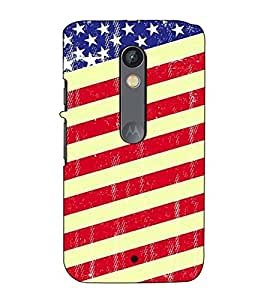 Fuson Designer Back Case Cover for Motorola Moto X Play (The flag theme)