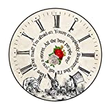 Vintage Alice In Wonderland Inspired Pocket Mirror (76mm): The Mad Hatters Tea Party