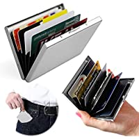 Business card holders stationery office supplies amazon itian newest high quality smooth stainless steel credit card holder for men women rfid credit card holder wallet offers best protection against rfid colourmoves