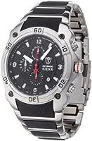 DETOMASO Siena Men's Quartz Watch with Black Dial Analogue Display and Multicolour Stainless Steel Bracelet Mtm8806C-Bk1