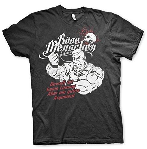 Böse Menschen - Gewalt ist keine Lösung T-shirt Schwarz