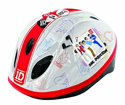 One Direction Girl's Safety Helmet - Red/White, 52-56 cm by One Direction