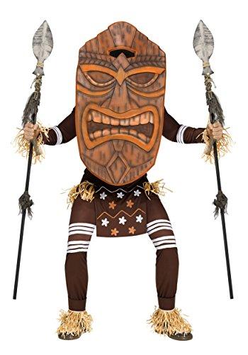 Tiki Krieger Hawaii-Kostüm braun M / L (Tiki Masken Kostüme)