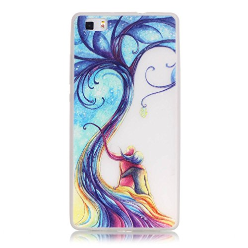 Coque pour iPhone 6 Plus, iPhone 6 Plus Silicone Coque Transparent Etui Housse, iPhone 6s Plus Coque en Silicone Souple Housse, iPhone 6 Plus Soft Case Clear Cover, Ukayfe Etui de Protection Cas en ca Noctilucent-les amateurs d'arbres