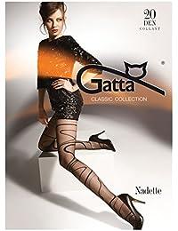 Gatta Nadette 04 - 20den - gemusterte Feinstrumpfhose Schlangenlinie gestreift Streifen Stripes