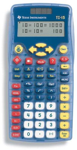 TI-15 Explorer Calculator, 10-Digit Display