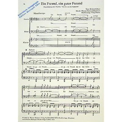 Weihnachtslieder Klavier Pdf.Ein Freund Ein Guter Freund Arrangiert Fur Mannerchor Klavier