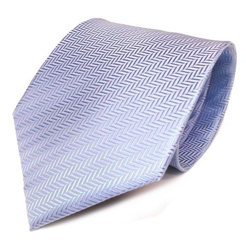 TigerTie Designer Krawatte in hellblau blau silber gestreift