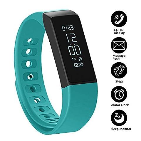 Schrittzähler Fitness Armband SHONCO I5 Plus wasserdicht Bluetooth Activity Tracker Smart Sportband Fitness Tracker Wristband mit Gesundheit schlafen Monitor für iPhone Android
