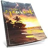 Dékokind® Bullet Journal: Ca. A4-Format • 100 Seiten, Punktraster Notizbuch mit Register • Dot Grid Notebook, Punktkariertes Papier, Skizzenbuch • ArtNr. 09 Urlaubsfeeling • Vintage Softcover