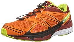 Salomon X-scream 3d, Men's Running Shoes, Tomato Redfleagecko Green, 8.5 Uk
