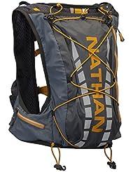 Nathan Vapour Air - Mochila tipo chaleco de hidratación para running, color gris