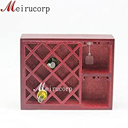 Fine 1:12 Scale Dollhouse Miniature Furniture Well Made Hand Carving Wine Rack