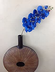 paradieseinkauf - Ramo di orchidea, in seta, 107 cm, colore blu