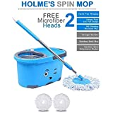 [Sponsored]HOLME'S Bucket Magic Spin Mop Double Drive Hand Pressure With 2 Micro Fiber Refills Household Floor Cleaning (with Soap Dispenser) (Color May Vary)