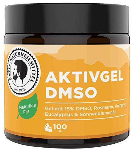 Aktiv Naturheilmittel AktivGel DMSO Creme/Salbe 100ml mit 15% DMSO & Wärmeeffekt | Rein, Hochwertig und 100% echt aus Deutschland -