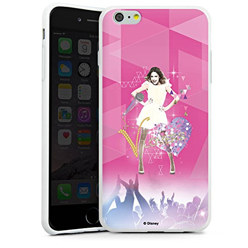 Apple iPhone SE Hülle Case Handyhülle Disney Violetta Fanartikel Geschenke Silikon Case weiß