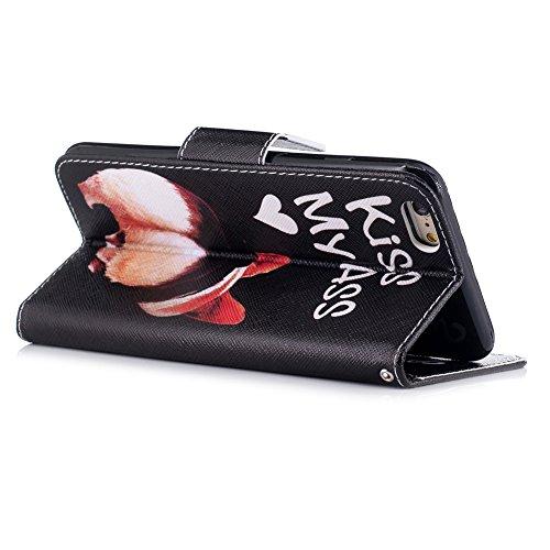 iPhone 6S Plus Custodia Flip,iPhone 6S Plus Custodia in Pelle,Slynmax Corgi Stampato Copertura Folio Cover PU Wallet Case Per iPhone 6s Plus / 6 Plus 5.5 Protezione Caso Ultra Sottile Colorato Protett Cover #2